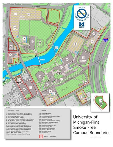 Baker College Flint Campus Map.Um Flint See And Be Seen